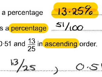 Spot the Mistake Maths Revision Foundation 5 - 1