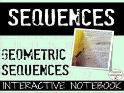Geometric Sequences Interactive Notebook Foldable