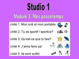 Studio 1   Module 3   Mes Passetemps