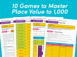 10 Games to Master Place Value to 1,000