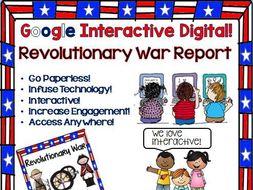 Google Drive Revolutionary War Report Interactive Notebook for Google Classroom