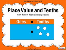Place Value and Tenths - Year 4