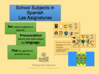 School Subjects in Spanish - Las Asignaturas