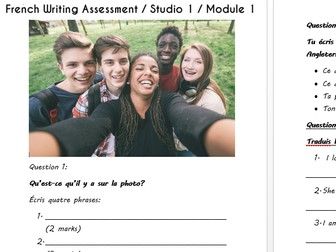 Year 7 French NEW AQA GCSE STYLE Assessments - Speaking and Writing