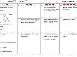 GCSE Physics / Combined Science Differentiated Equation Worksheets