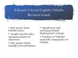 Edexcel A Level Othello Guide