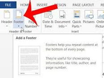 Creating and Editing Headers and Footers in Microsoft Word