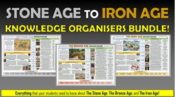 Stone Age to Iron Age Knowledge Organisers Bundle!