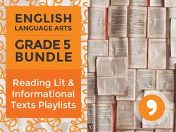Reading Lit and Informational Texts Playlists: Complete Grade 5 Bundle