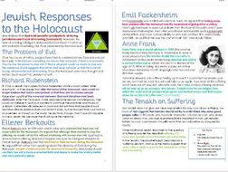 Judaism: Responses to the Holocaust and Problem of Evil and Suffering