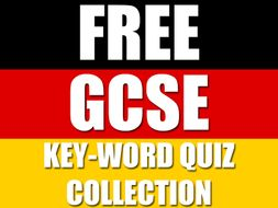 KS4 GCSE German Keyword Quiz Collection - Vokabeltest