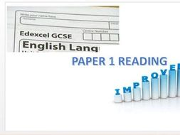 Edexcel GCSE English Language Paper 1 Reading Practise / Revision / Improvement