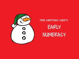 Free Christmas Sheets - Early Numeracy