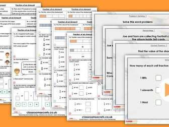 Year 6 Fraction of an Amount Autumn Block 3 Step 15 Lesson Pack
