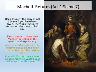 Macbeth - Act 1 Scene 7