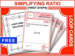 Simplifying Ratio (Loop Cards)