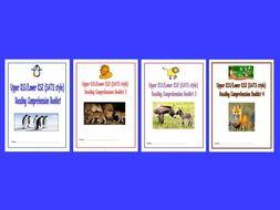 KS1/LKS2 SATS style Reading Comprehension Booklets, Bundle 1