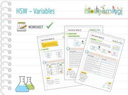 how science works hsw worksheet 1 variables ks3 ks4 by anjacschmidt teaching resources. Black Bedroom Furniture Sets. Home Design Ideas
