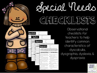 Special Needs Checklists