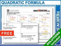 Quadratic Formula (GCSE Topic Review)