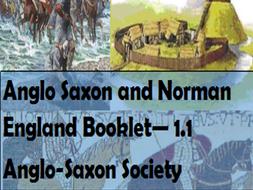 Anglo-Saxon  Society: Booklet (edexcel GCSE 9-1)