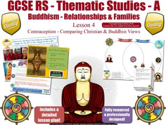 Contraception - Comparing Buddhist & Christian Views (GCSE Buddhism -Relationships & Families)  L4/7