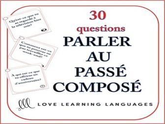 GCSE FRENCH: Passé Composé Speaking Task Cards