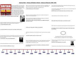 Andrew Marr—History Of Modern Britain—Advance Britannia Episode 1 -1945–1955 - Supporting Worksheet