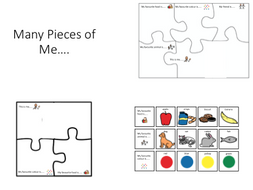 many pieces of me jigsaw and visual supports