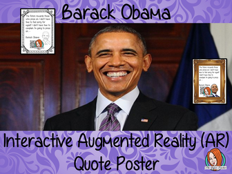 Barack Obama Interactive Quote Poster