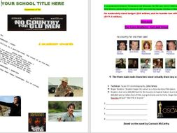 No Country For Old  Men  Film Study  new curriculum updated