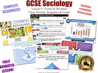 Class, Poverty & Crime - Crime & Deviance L9/20 [ AQA GCSE Sociology - 8192]  Criminality Factors