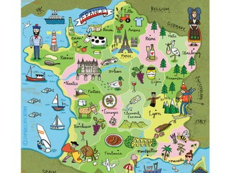Introduction to French, greetings, history of the French language and a song! With lesson plan.
