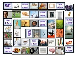 Phonics Consonant Blends br-cr-dr-fr-gr Photo Board Game