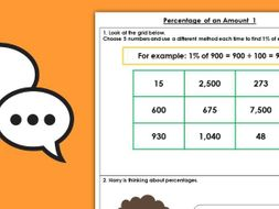 Year 6 Percentage of an Amount 1 Spring Block 2 Maths Discussion Problems