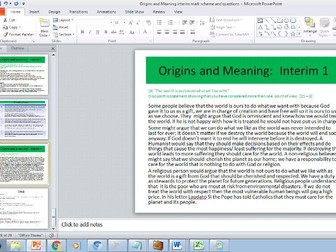 Eduqas Route B Origin and Meaning sample assessment questions, answers and mark scheme