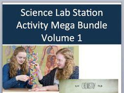 Science Lab Station Activity Mega Bundle - Volume I - Includes 44 Resources
