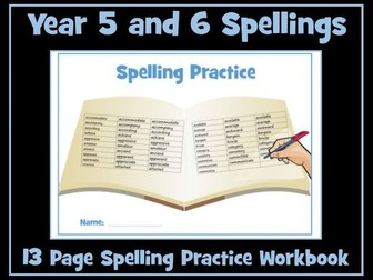 Spellings: Year 5 /6 Spelling Practice Worksheets