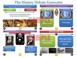 Debate Generators - The Ultimate Bundle (Great for PSHE, Tutor Time, SMSC, and Debate Clubs!)