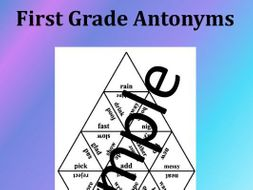 First Grade Antonyms - Puzzle
