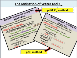 The Ionic Product of Water (A Level Chemistry)