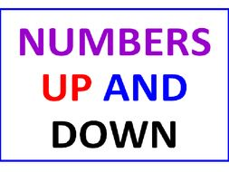 Numbers UP and DOWN