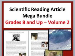 Science Article Bundle Volume 2 - Grade 8 and Up - 30 Science Readings