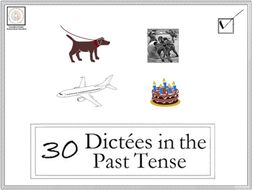 French: 30 Dictées in the Past Tense