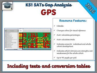 KS1 2016 SATs GPS Gap Analysis Grid (including tests and conversion tables) - SATs Prep