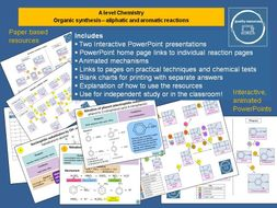 Organic synthesis - aliphatic and aromatic