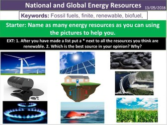 National and Global Energy Resources