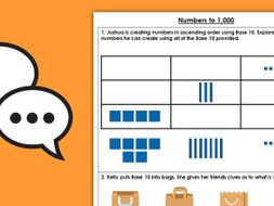 Year 3 Numbers to 1,000 Autumn Block 1 Maths Discussion Problems