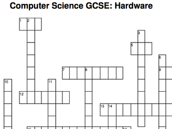 GCSE Computer Science crosswords (13 topics)