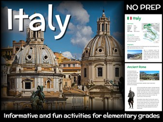 Italy (country study for elementary grades)